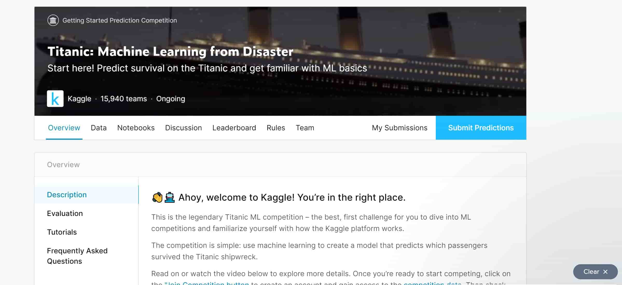 kaggle overview